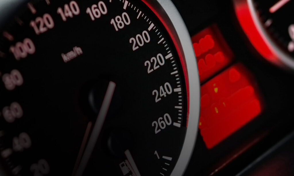 INauto snelheidsmeter dashboard