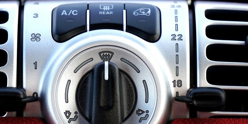 airco compressor bediening in interieur a/c knop ac voor aircopomp inschakeling