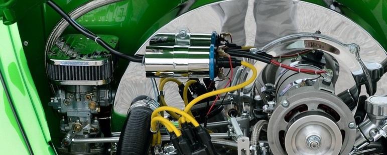 Bobine informatie en werking, afbeelding motorruimte met 2 bobines